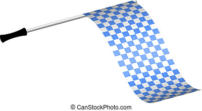 Racing flag in blue colour