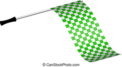Racing flag in green colour