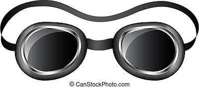 Retro goggles isolated on white background