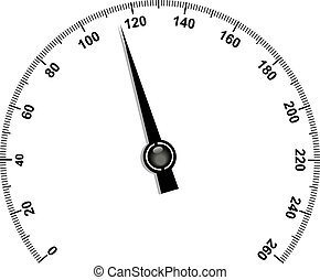 Needle speedometer - Illustration of needle speedometer...
