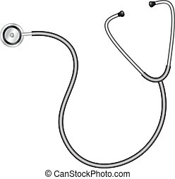 Medical stethoscope - Illustration of medical stethoscope...