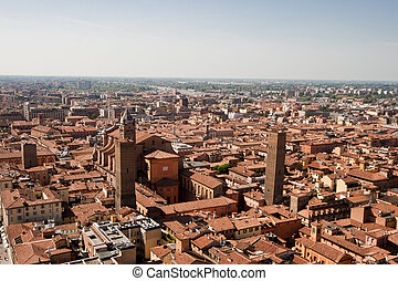 Bologna Rooftops - Image taken from the Torre Asinelli,...
