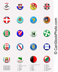 Flags balls of regions of Italy - This picture shows flag...