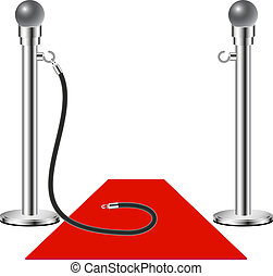 Free admission - Red Carpet on white background