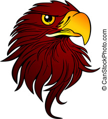 Vector Illustration of an Eagle Head