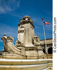 Union Station at Washington DC with Christopher Columbus...