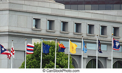 State Flags of the US at Union Station in Washington DC
