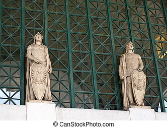 Union Station at Washington DC with Statues