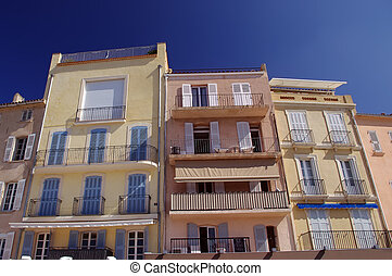 Mediterranean coastline appartments - traditional houses in...
