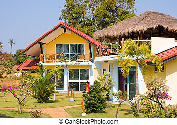 Beach bungalow , Thailand . - Beautiful tropical beach house...