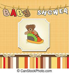 shower card with teddy bear hidden