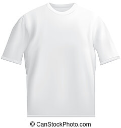 t-shirt template isolated on white