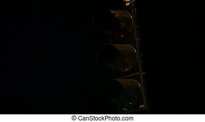 traffic light in night