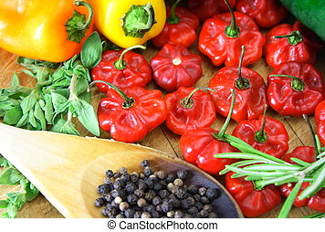 Pepper and spice - Compilation of scotch bonnet, miniature...
