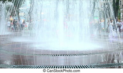 Fountain in the city