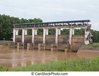 Upcountry floodgate - Floodgate at Thailand upcountry Trat...