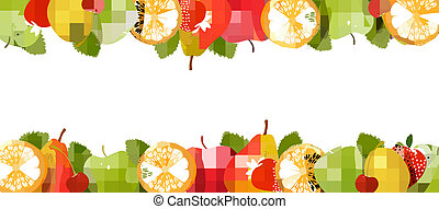 Nature background made of fruit