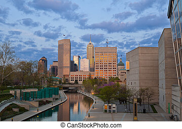 Indianapolis - Image of downtown Indianapolis, Indiana at...