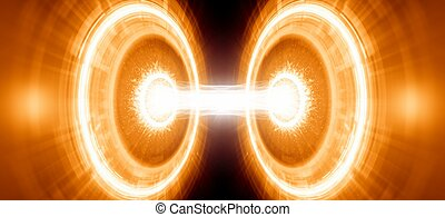 Abstract scientific background. Energy, exploding, research,...