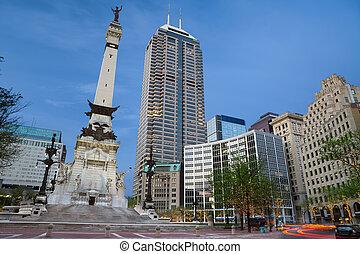 monumento, círculo, Indianapolis, Indi