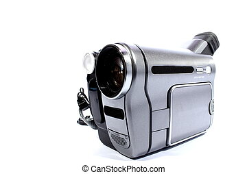 Video Recorder - Isolated silver and black video recorder...