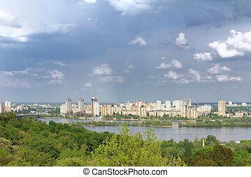 Kyiv, Ukraine.View on the Dnieper River