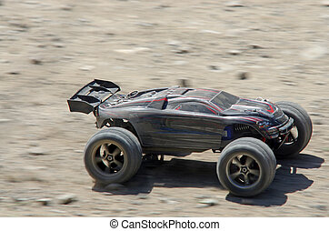 Radio controlled car - Speeding electric car, remote...