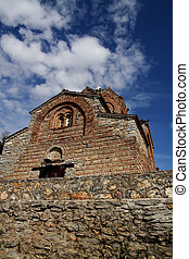 Ohrid, Macedonia - Church of St John at Kaneo in Ohrid,...
