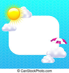 Card With Sun And Clouds