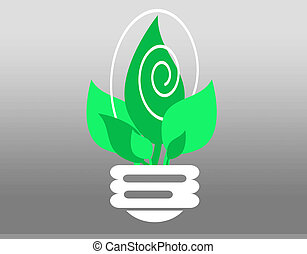 Energy efficient - illustration of energy efficient light...