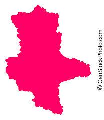 Map of Saxony-Anhalt