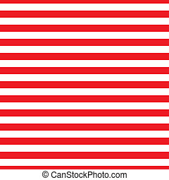 Seamless Red & White Stripes - Seamless horizontal red and...