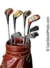 Vintage Golf clubs - Vintage worn Golf clubs in an old bag...