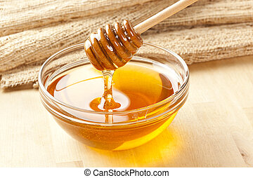 dorado, orgánico, miel