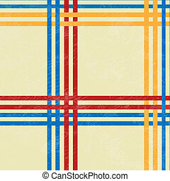 Tablecloth, red and blue, yellow lines - vector illustration...