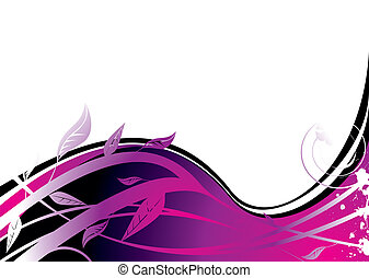 purple flower - Nature inspired background with flowing...
