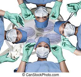 hermoso, mujeres, cirujanos