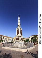 Malaga Obelisk - Obelisk at Plaza de la Merced in Malaga,...