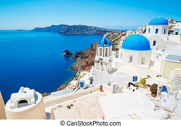 Sanorini Island, Greece - Beautiful View of Santorini...