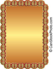 golden red background - golden background with red frame and...