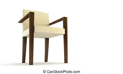 modern chair 3d rendering - modern chair 3D rendering...
