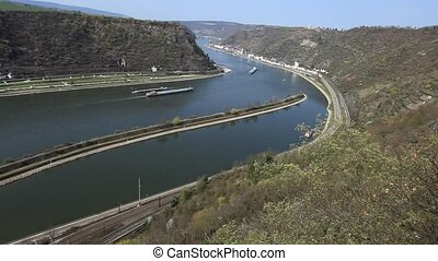 Rhine 4 - Middle Rhine Valley with View from the Loreley...