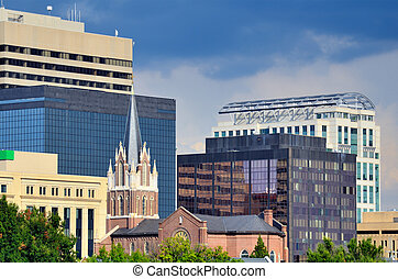 Downtown Columbia South Carolina - Buildings in downtown...