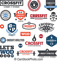 Crossfit athletics graphics - Set of various crossfit and...