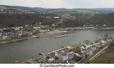 Rhine - Middle Rhine Valley with View from the Loreley Rock...