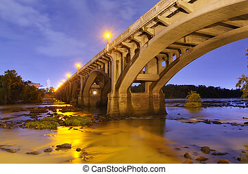 Gervais Street Bridge in Columbia, South Carolina, USA