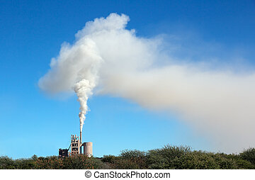 Industrial smog - Smoke from an industrial plant drifting in...