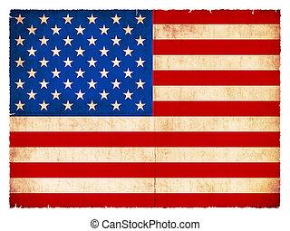 Grunge flag of the USA