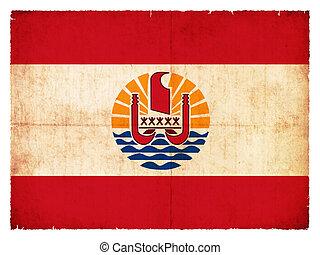 Grunge flag French Polynesia - Flag of French Polynesia...