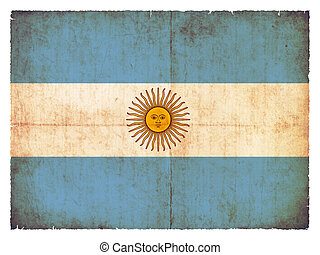 Grunge flag of Argentinia - National Flag of Argentinia...